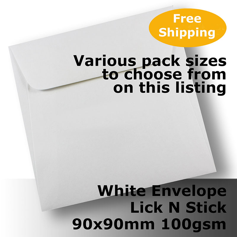 100 x Embossed White Envelopes 16cm x 11cm Party Wedding Invitation Lick N Stick
